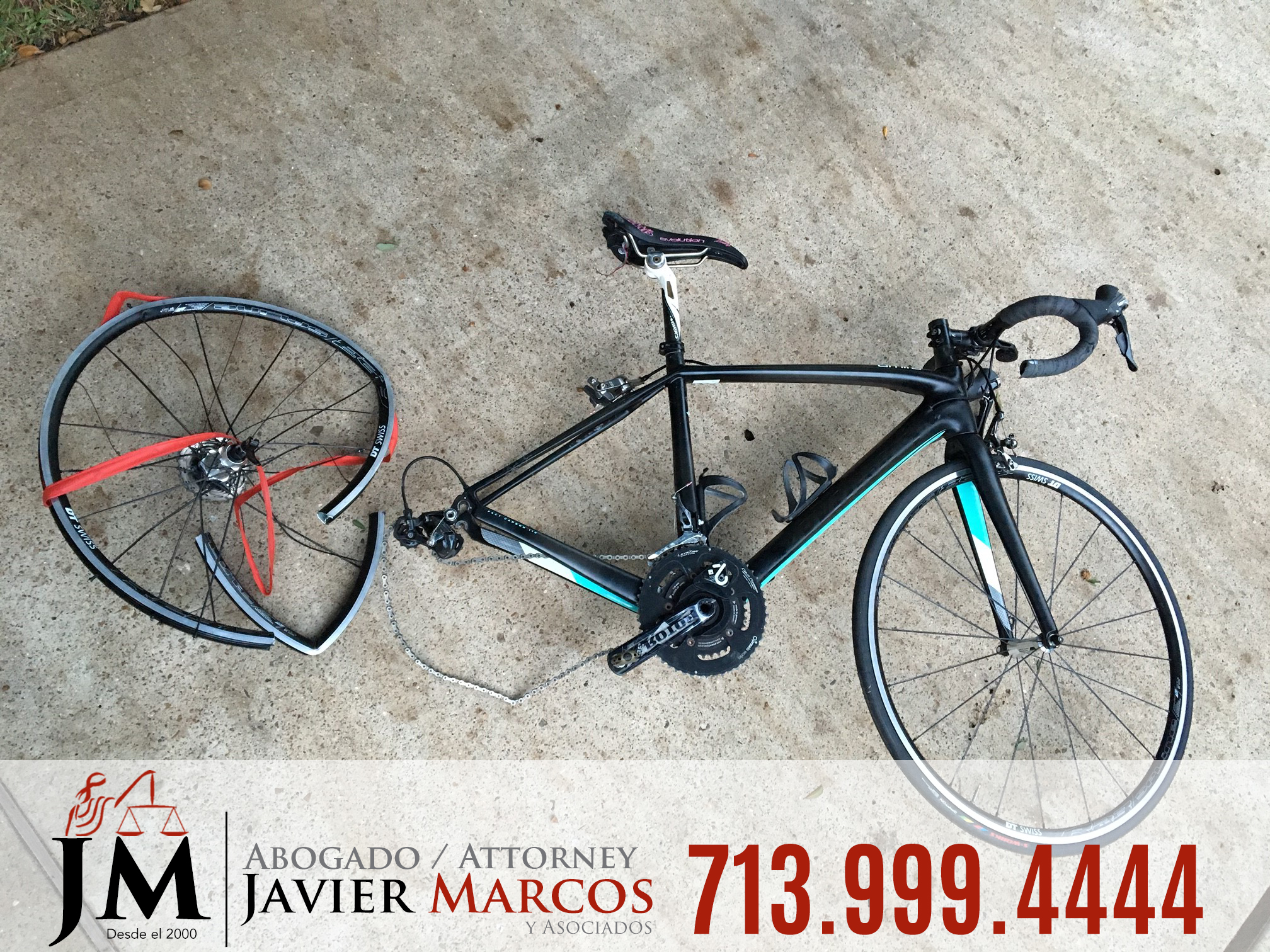 Bicycle accident attorney   Attorney Javier Marcos   713.999.4444