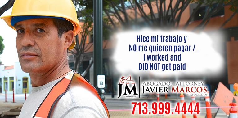 Construction Liens   Attorney Javier Marcos   713.999.4444