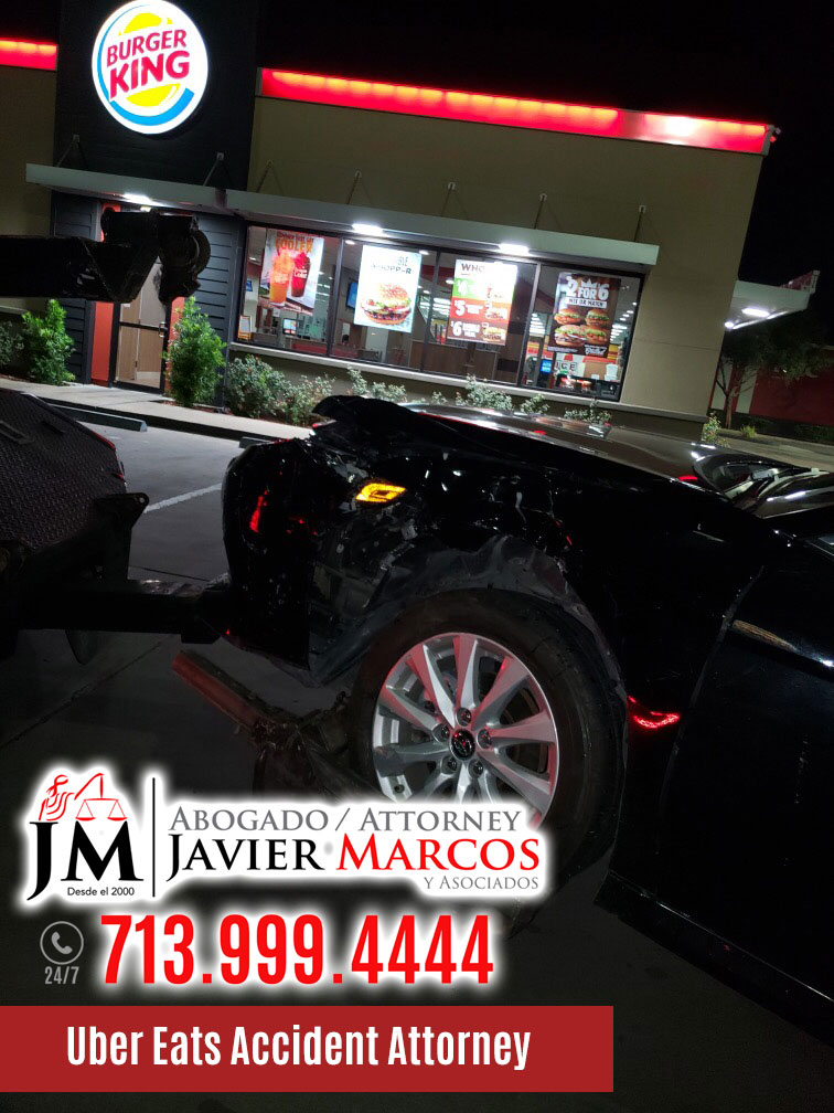 Accident Attorney for Uber Eats | Attorney Javier Marcos | 713.999.4444