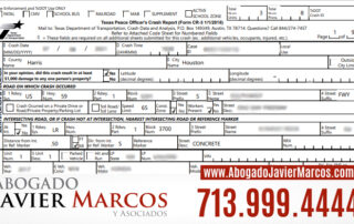 Police report after a car accident | Attorney Javier Marcos | 713.999.4444